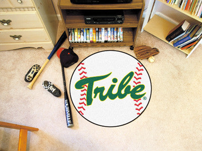 "William & Mary Baseball Mat 27"" diameter"