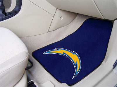 "NFL - San Diego Chargers 2-pc Carpeted Car Mats 17""x27"""