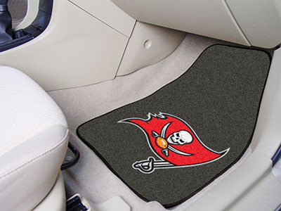 "NFL - Tampa Bay Buccaneers 2-pc Carpeted Car Mats 17""x27"""