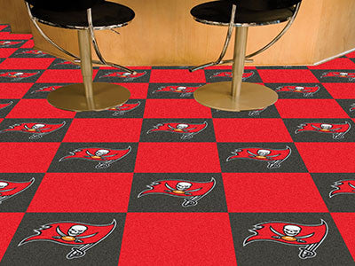 "NFL - Tampa Bay Buccaneers Carpet Tiles 18""x18"" tiles"