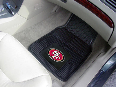 "NFL - San Francisco 49ers 2-pc Vinyl Car Mats 17""x27"""
