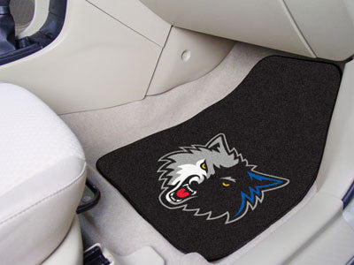 "NBA - Minnesota Timberwolves 2-pc Carpeted Car Mats 17""x27"""