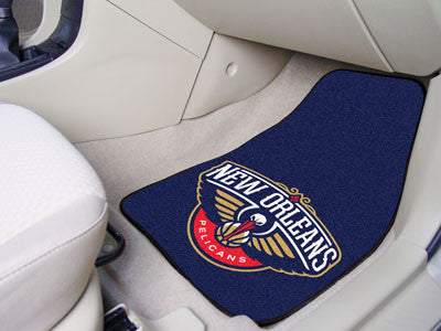 "NBA - New Orleans Pelicans 2-pc Carpeted Car Mats 17""x27"""