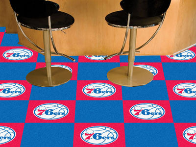 "NBA - Philadelphia 76ers Carpet Tiles 18""x18"" tiles"