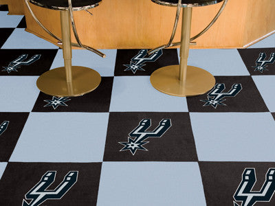 "NBA - San Antonio Spurs Carpet Tiles 18""x18"" tiles"