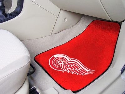 "NHL - Detroit Red Wings 2-pc Printed Carpet Car Mats 17""x27"""