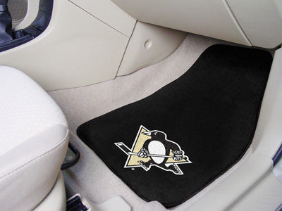 "NHL - Pittsburgh Penguins 2-pc Printed Carpet Car Mats 17""x27"""