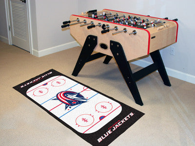 "NHL - Columbus Blue Jackets Rink Runner 30""x72"""