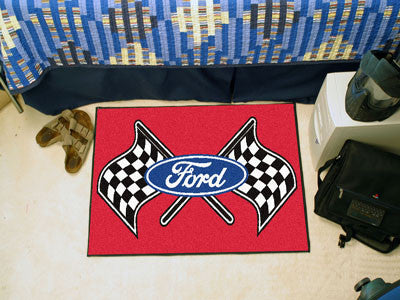 "Ford Flags Starter Rug 19""x30"" - Red"