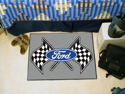 "Ford Flags Starter Rug 19""x30"" - Gray"