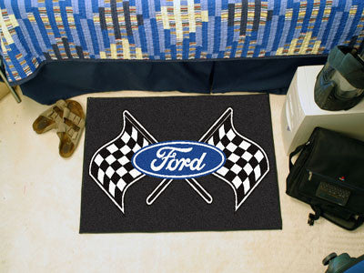 "Ford Flags Starter Rug 19""x30"" - Black"