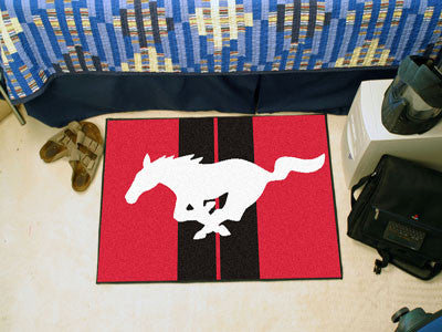 "Mustang Horse Starter Rug 19""x30"" - Red"