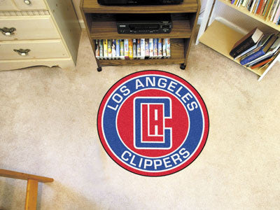"NBA - Los Angeles Clippers Roundel Mat 27"" diameter"
