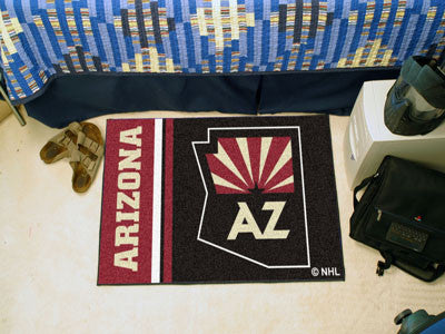 "Arizona Coyotes Uniform Starter Rug 19""x30"""