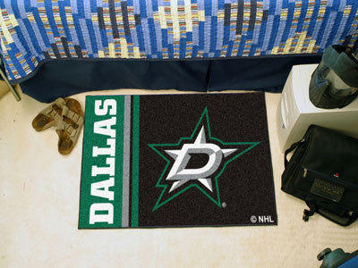 "Dallas Stars Uniform Starter Rug 19""x30"""