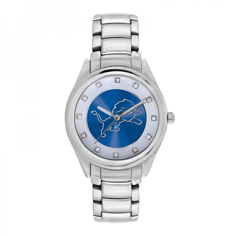 Detroit Lions  Ladies Watch NFL Triple Silver Stone Wildcard