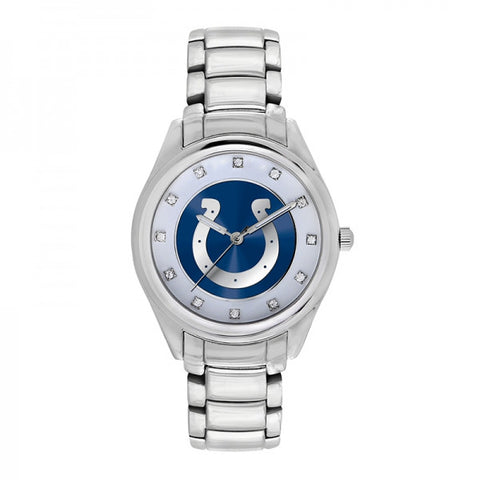 Indianapolis Colts Ladies Watch NFL Triple Silver Stone Wildcard