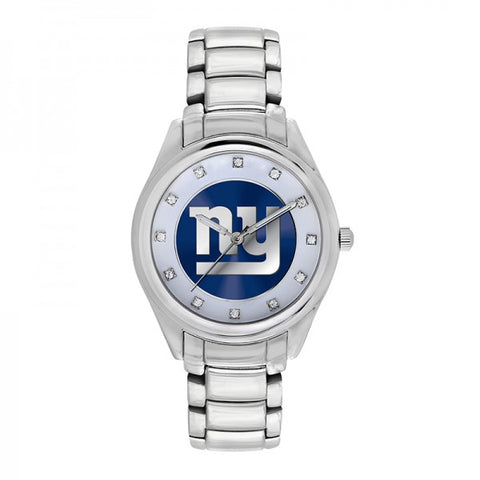 New York Giants Ladies Watch NFL Triple Silver Stone Wildcard