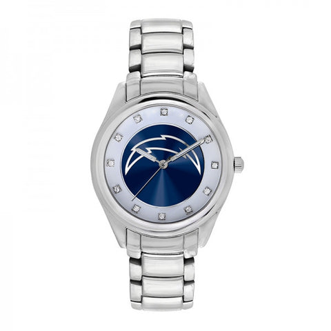 San Diego Chargers Ladies Watch NFL Triple Silver Stone Wildcard