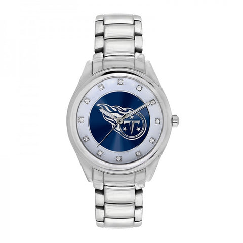 Tennessee Titans Ladies Watch NFL Triple Silver Stone Wildcard