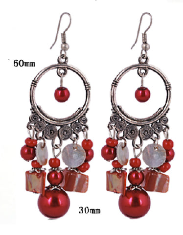 Beadwork Chandelier vintage Dangle Earrings