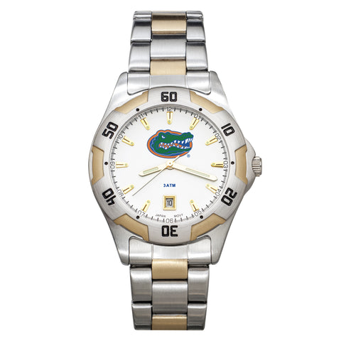UNIV OF FLORIDA GATORS ALL-PRO MENS TWO-TONE WATCH