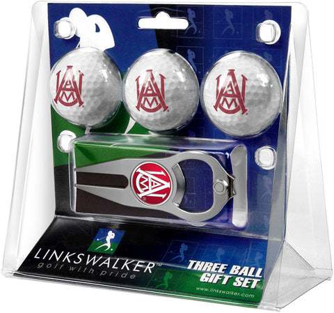 Alabama A&M Bulldogs-3 Ball Gift Pack with Hat Trick Divot Tool