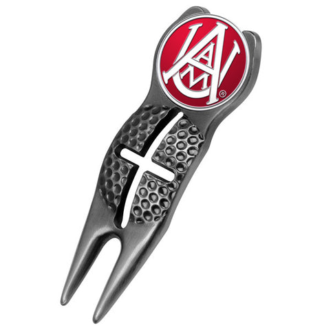 Alabama A&M Bulldogs-Crosshairs Divot Tool - Black