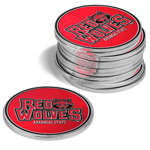Arkansas State Red Wolves-12 Pack Ball Markers