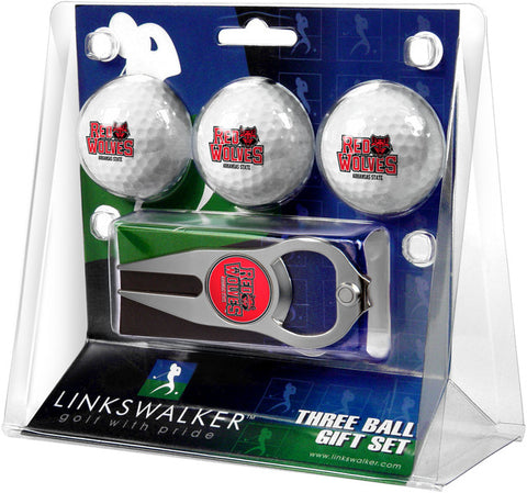 Arkansas State Red Wolves-3 Ball Gift Pack with Hat Trick Divot Tool