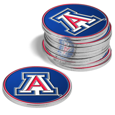 Arizona Wildcats-12 Pack Ball Markers