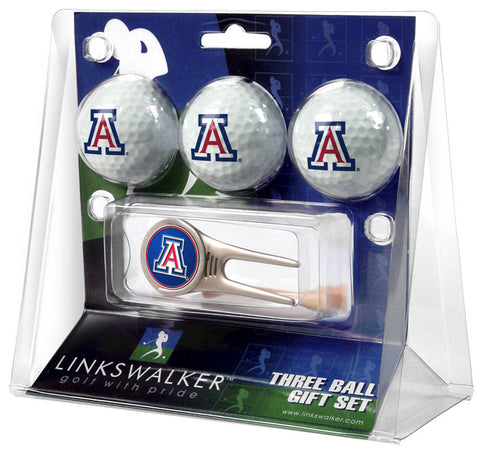 Arizona Wildcats-Cap Tool 3 Ball Gift Pack