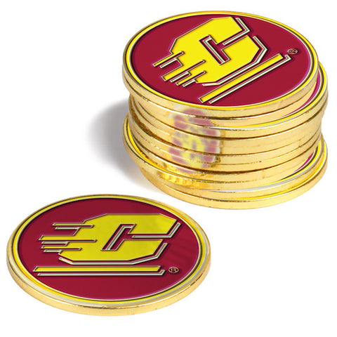 Central Michigan Chippewas-12 Pack Ball Markers
