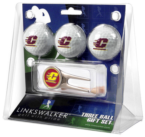 Central Michigan Chippewas-Cap Tool 3 Ball Gift Pack