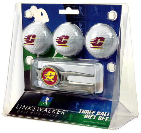 Central Michigan Chippewas-Kool Tool 3 Ball Gift Pack