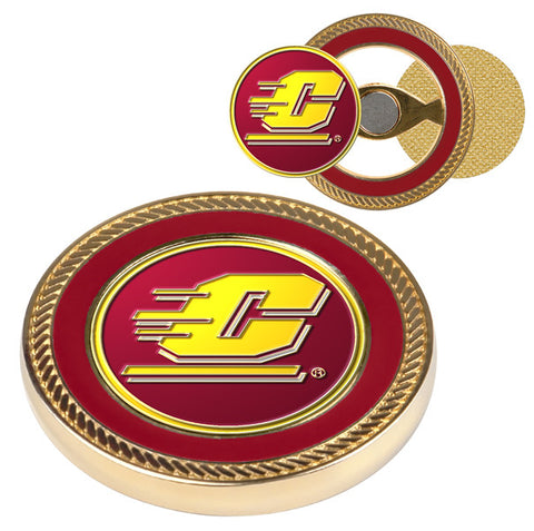 Central Michigan Chippewas-Challenge Coin / 2 Ball Markers