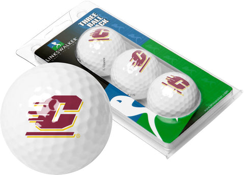 Central Michigan Chippewas-3 Golf Ball Sleeve