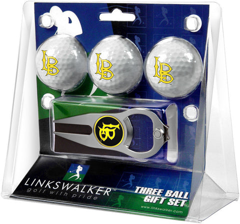 Long Beach State 49ers-3 Ball Gift Pack with Hat Trick Divot Tool