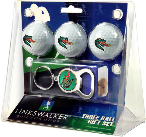 Alabama - UAB Blazers-3 Ball Gift Pack with Key Chain Bottle Opener