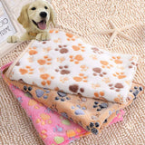 40 x 60cm  Floral Pet Sleep Warm Paw Print Dog Cat Mat  Fleece Soft Blanket