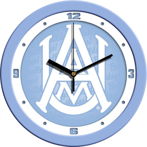 Mens Alabama A&M Bulldogs - Baby Blue Wall Clock