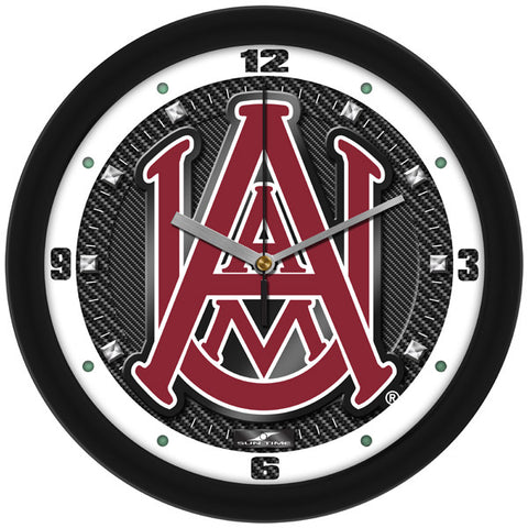Alabama A&M Bulldogs - Carbon Fiber Textured Wall Clock
