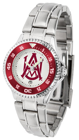 Alabama A&M Bulldogs Competitor Steel Ladies Watch