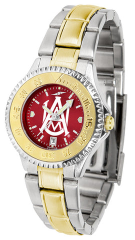Alabama A&M Bulldogs Ladies Competitor Two-Tone Watch With Anochrome Dial