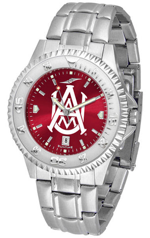 Alabama A&M Bulldogs Men's Competitor Steel Watch With AnoChome Dial
