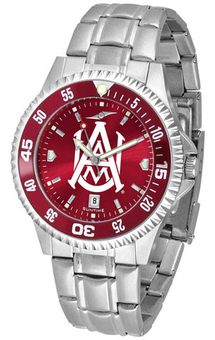 Alabama A&M Bulldogs Men Competitor Steel Watch With AnoChome Dial, Color Bezel