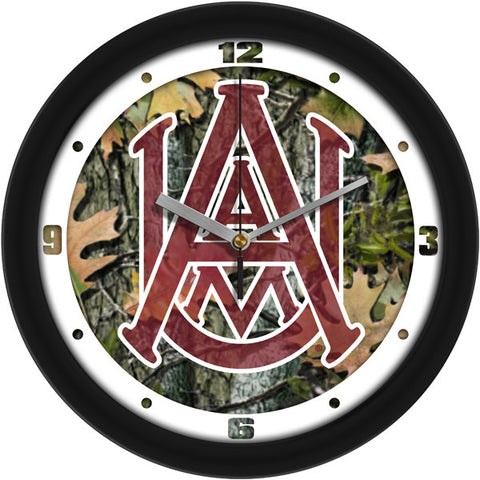 Mens Alabama A&M Bulldogs - Camo Wall Clock