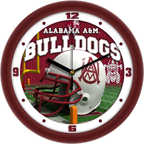 Mens Alabama A&M Bulldogs - Football Helmet Wall Clock