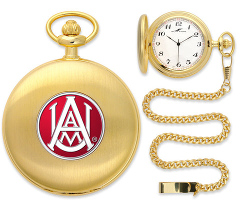 Mens Alabama A&M Bulldogs - Pocket Watch - Gold