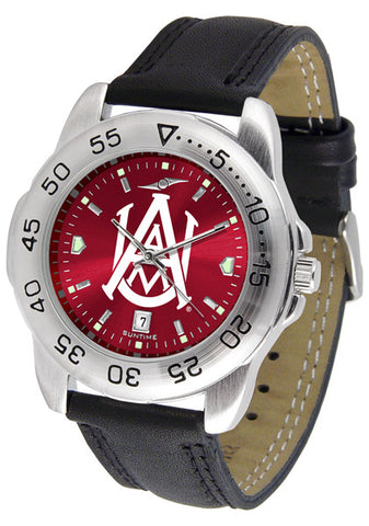 Alabama A&M Bulldogs Men Sport Watch With Leather Band & AnoChrome Dial